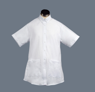 Superior Uniform Group 61717 311 F White Maternity SS Oxford Shirt
