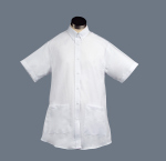 Superior Uniform Group 61717 311 F White Maternity SS Oxford Shirt