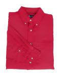 Superior Uniform Group 61736 394/BG7216 Mens Red P/C POP LS Shirt