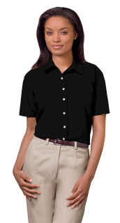 Superior Uniform Group 61773 391/BG6216S Ldy Black P/C POP SS Shirt