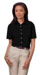 Superior Uniform Group 61773 391/BG6216S Ldy Black P/C POP SS Shirt