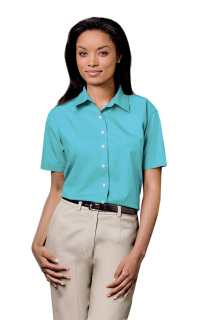 Superior Uniform Group 61774 391 Ladies Lt Blue P/C SS Shirt