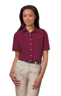 Superior Uniform Group 61775 391/BG6216S Ldy Burg P/C POP SS Shirt