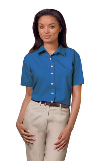 Superior Uniform Group 61776 391 Ladies Fr Blue P/C SS Shirt