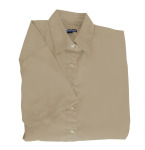 Superior Uniform Group 61778 391/BG6216S Ldy Tan P/C POP SS Shirt