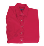 Superior Uniform Group 61780 391/BG6216S Ldy Red P/C POP SS Shirt