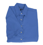 Superior Uniform Group 61781 391/BG6216S Ldy Royal P/C POP SS Shirt