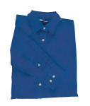 Superior Uniform Group 61787 392/BG6216 Ldy Fr Blue P/C POP LS Shirt