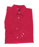 Superior Uniform Group 61791 392/BG6216 Ldy Red P/C POP LS Shirt