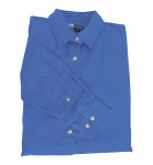 Superior Uniform Group 61792 392/BG6216 Ldy Royal P/C POP LS Shirt