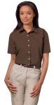 Superior Uniform Group 62007 391/BG6216S F Chocolate P/C POP SS Shirt