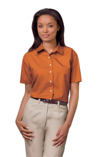 Superior Uniform Group 62008 391/BG6216S F Brnt Org P/C POP SS Shirt