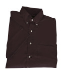 Superior Uniform Group 62011 393/BG7216S M Chocolate P/CPOP SS Shirt