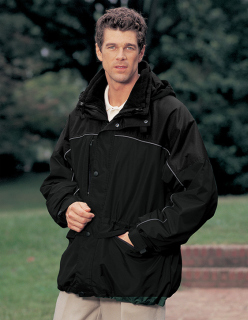 Superior Uniform Group 62077 388 Unisex Black/Gray Suburban Parka