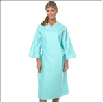 Superior Uniform Group 622 Aqua Exam Gown/Tie Closure