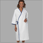 Superior Uniform Group 627 White/blue Trim Exam Gown/Tie