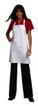 "Superior Uniform Group 63287 White Krazy Kloth 29"" Bib Apron"