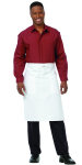 "Superior Uniform Group 63416 White 26"" Mini Bistro Apron/Pockets"