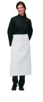 "Superior Uniform Group 63418 White 32"" Bistro Apron/Welt Pocket"