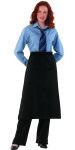 """Superior Uniform Group 63419 Black 32"""" Bistro Apron/Welt Pocket"""