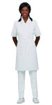 "Superior Uniform Group 63607 White 29"" Bib Apron/Pockets"