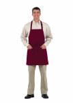 "Superior Uniform Group 63608 Burgundy 29"" Bib Apron/Pockets"