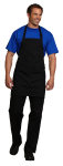 "Superior Uniform Group 63615 Black 29"" Bib Apron/No Pocket"
