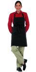 "Superior Uniform Group 63616 Black 29"" Deli Bib Apron/Divider Pocket"