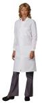Superior Uniform Group 6405 Unisex Wht DStat PLUS LabCoat/Snap/Cuffs