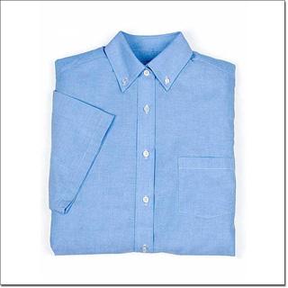 Superior Uniform Group 64428 Ladies Blue Cotton/Poly Short Sleeves Oxford Shirt