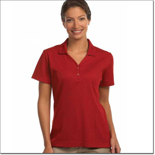 Superior Uniform Group 64505 Ladies Metro Red MM Short Sleeves Knit Shirt