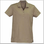 Superior Uniform Group 64556 Ladies Tan MM Short Sleeves Knit Shirt