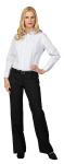 Superior Uniform Group 64689 Ladies Blue/White Plaid P/C LS Blouse