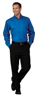 Superior Uniform Group 64692 Mens Waterfall F/L Twl LS Shirt