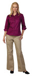 Superior Uniform Group 64695 Ladies Mulberry F/L Twl 3/4 Sleeve Shirt