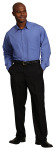 Superior Uniform Group 64703 Mens Fr Blue Dressy POP LS Econo Shirt