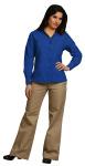 Superior Uniform Group 64706 Ladies Royal Dressy POP LS Econo Shirt
