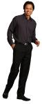 Superior Uniform Group 64714 Unisex Pepper 100P LS Metro Shirt