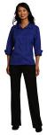 Superior Uniform Group 64733 Ladies Cobalt F/L Twl 3/4 Sleeve Shirt