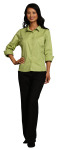Superior Uniform Group 64741 Ladies Green Apple F/L Twl 3/4 Sleeve Shirt