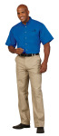Superior Uniform Group 64744 Mens Waterfall F/L Twl SS Shirt