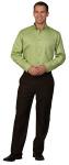 Superior Uniform Group 64746 Mens Green Apple FLT LS Buttondown Shirt