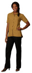 Superior Uniform Group 64754 Ladies Saffron Whisper Wv SS Camp Shirt