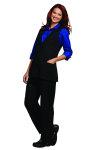 Superior Uniform Group 66170 Ladies Black Twill Tunic Vest