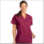 Superior Uniform Group 6697 Unisex FP Burgundy Reversible Scrub Shirt Set