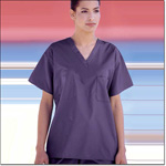 Superior Uniform Group 6778 Unisex FB Purple Reversible Scrub Shirt Set