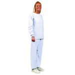 Superior Uniform Group 7000 Unisex White No Pocket Elastic Waist Scrub Pants
