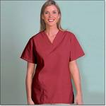 Superior Uniform Group 7016 Ladies FP Sangria V-neck Tunic