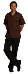 Superior Uniform Group 7036 Mens FP Chocolate/Black Btn Front Shirt