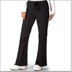 Superior Uniform Group 7086 Ladies Black FP Drawcord Flair Slack-petite